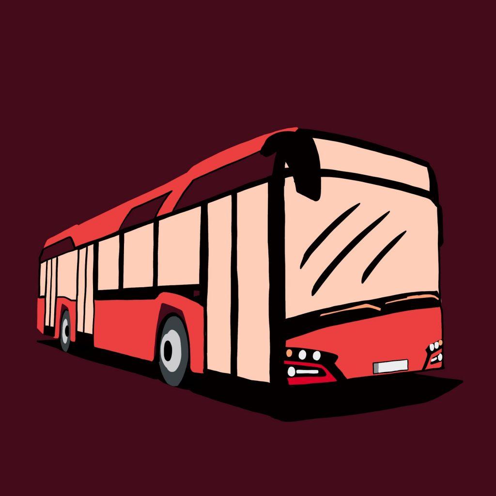 Buss. Illustrasjon