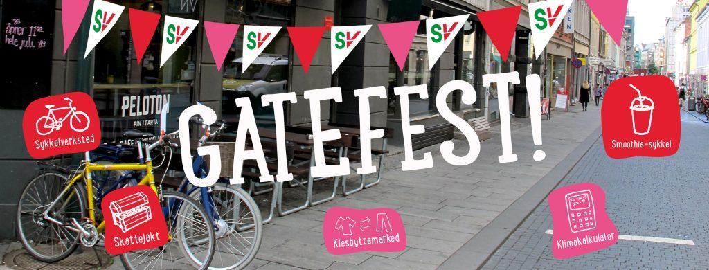 Gatefest. Torggata i Oslo. Grafikk over foto.