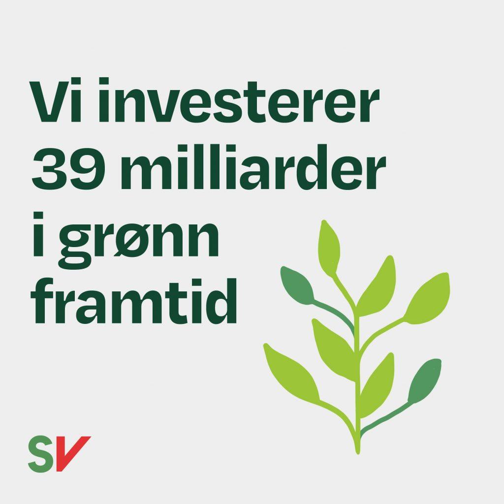 Vi invisterer 39 milliarder i grønn framtid. Illustrasjon