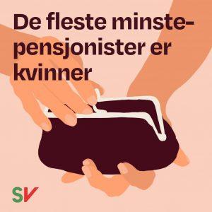 De fleste minstepensjonister er kvinner. Pengepung. Grafikk og illustrasjon