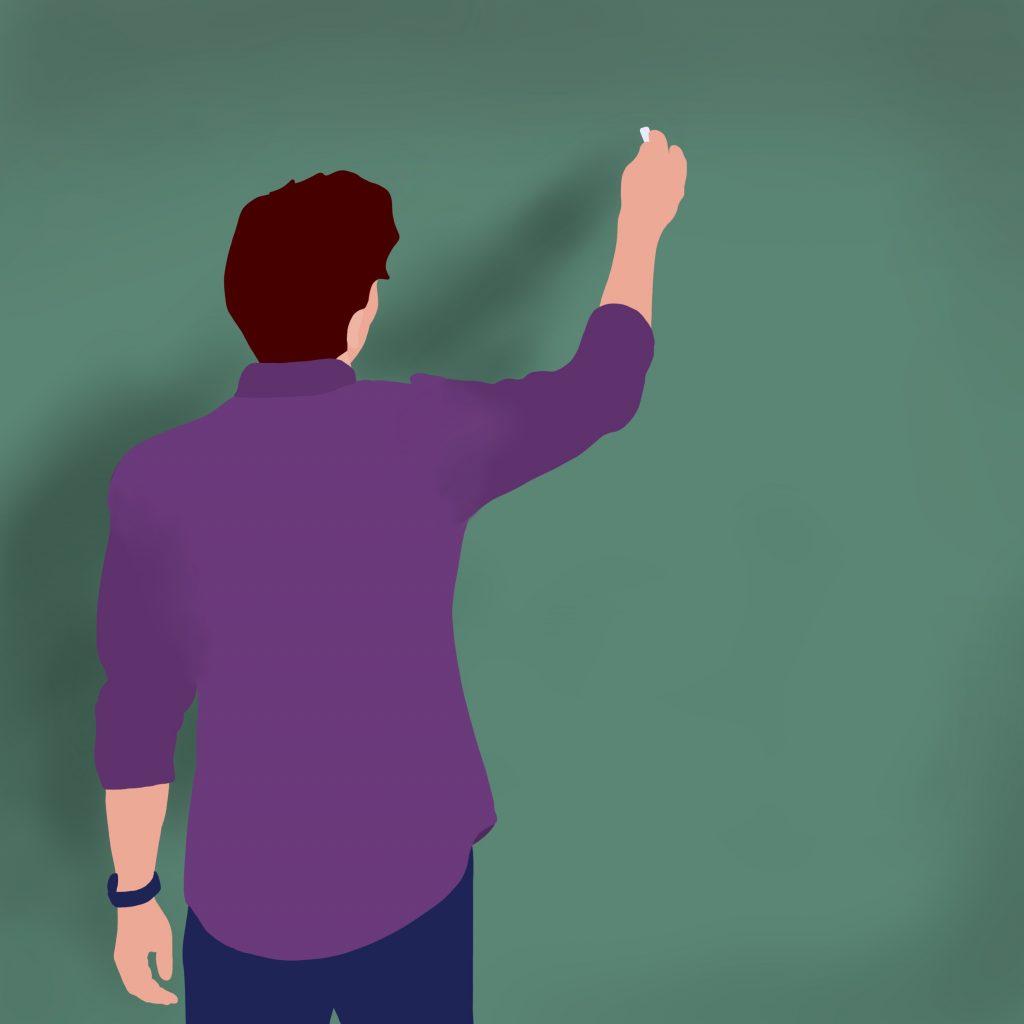 Lærer. Illustrasjon.