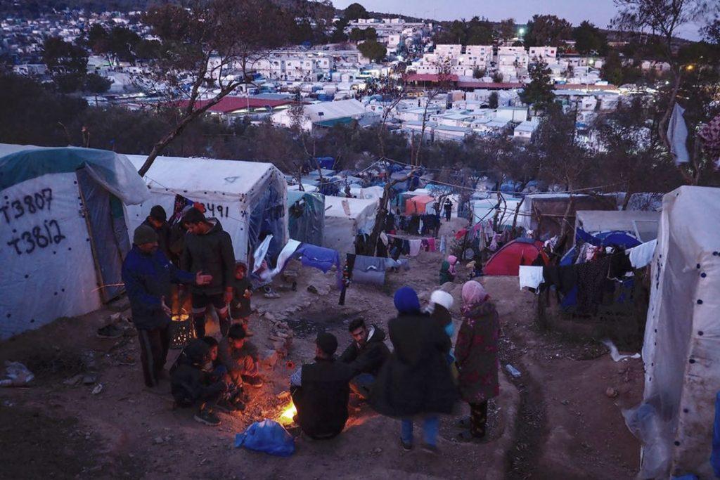 Flyktningleir i Hellas. Foto