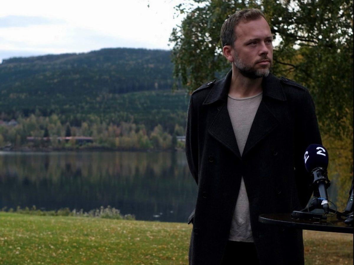 Audun Lysbakken i Hurdal. Foto